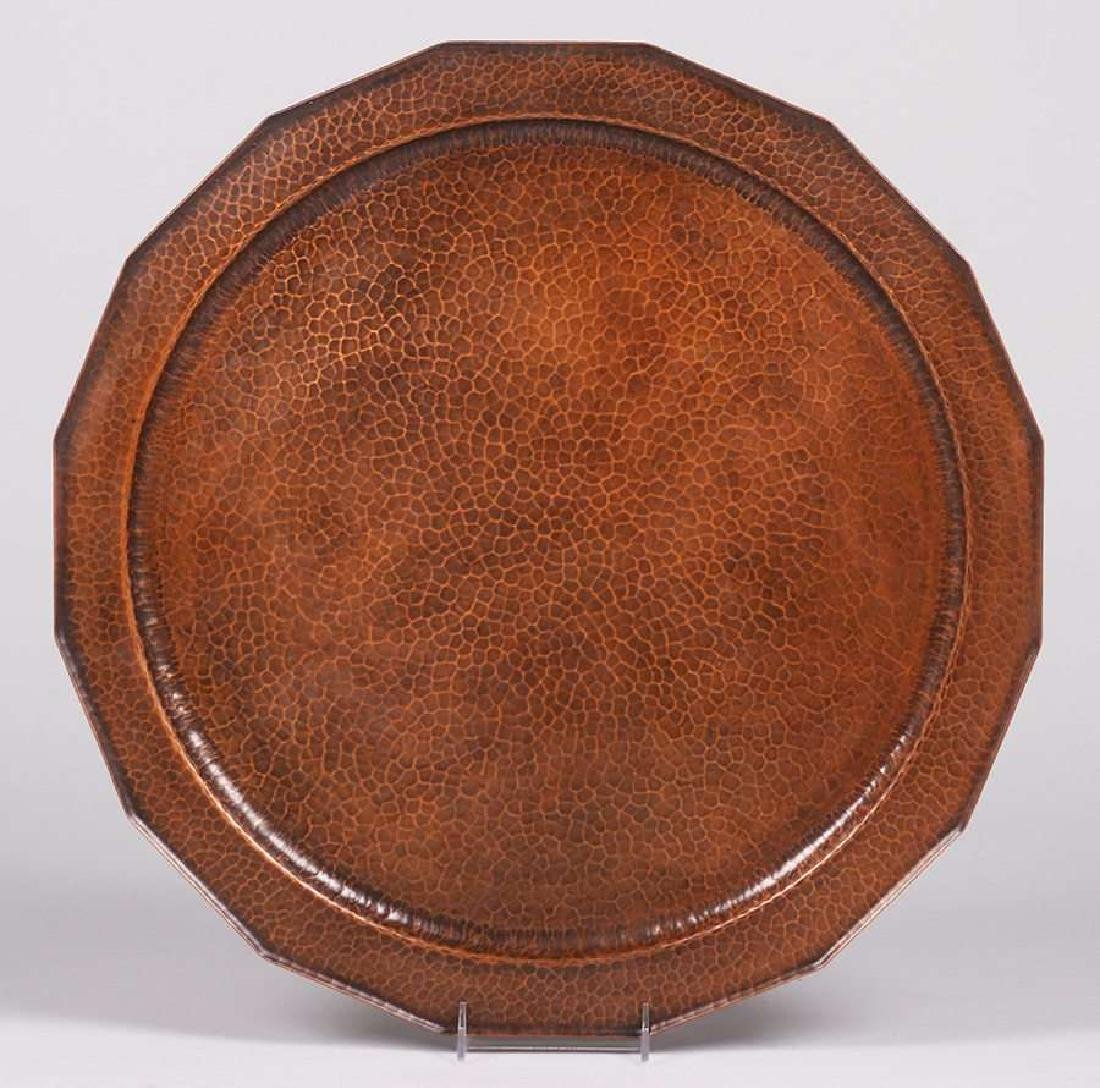Huge Avon Coppersmith Hammered Copper 24in Tray