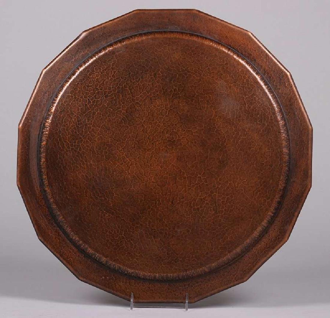 Huge Avon Coppersmith Hammered Copper 24in Tray - 2