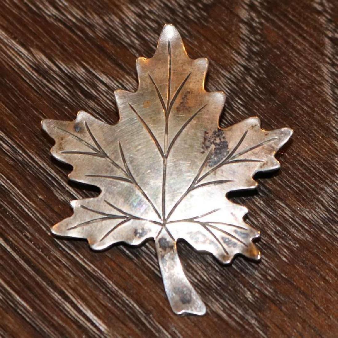 Walter Jennings – Roycroft sterling silver maple leaf
