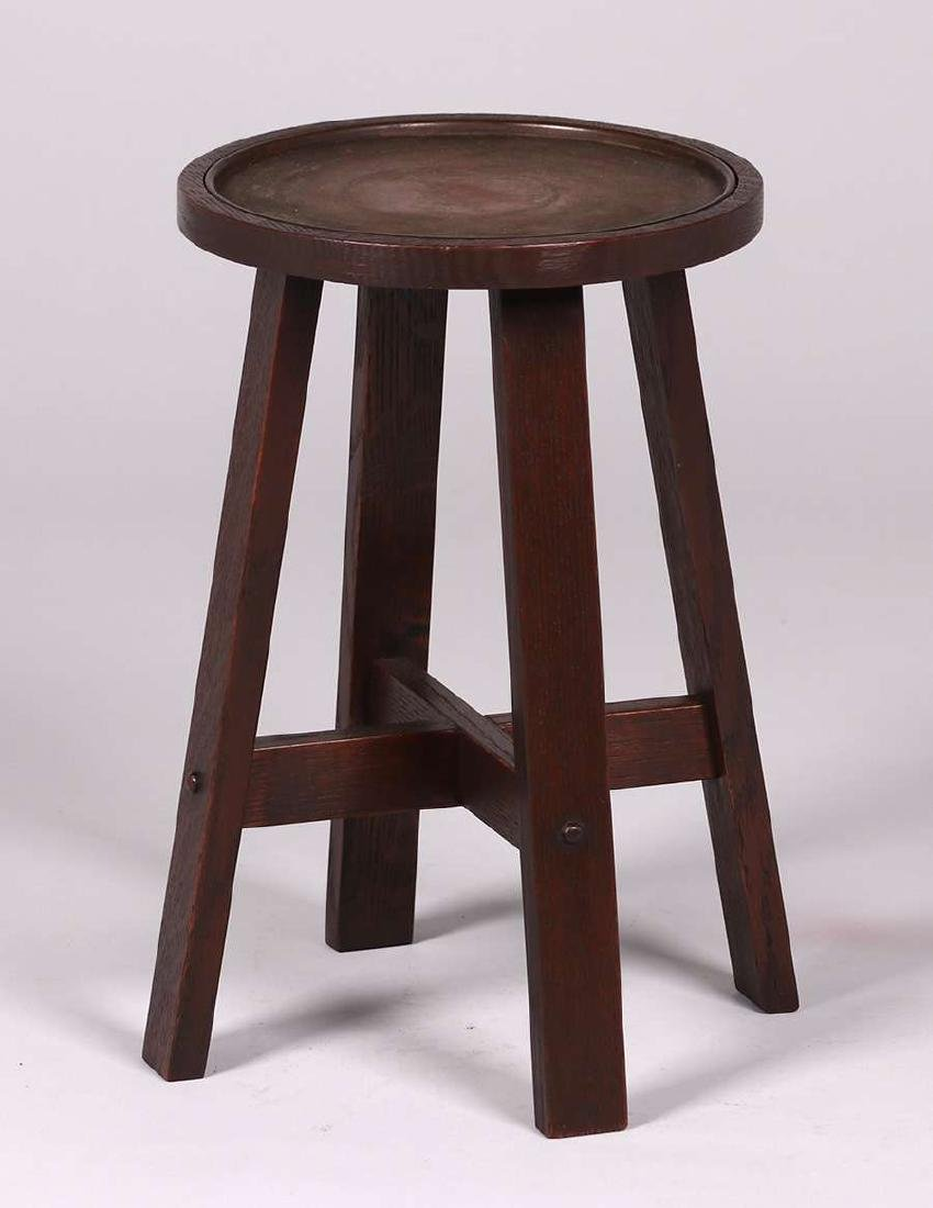 Stickley Brothers Copper-Top Taboret