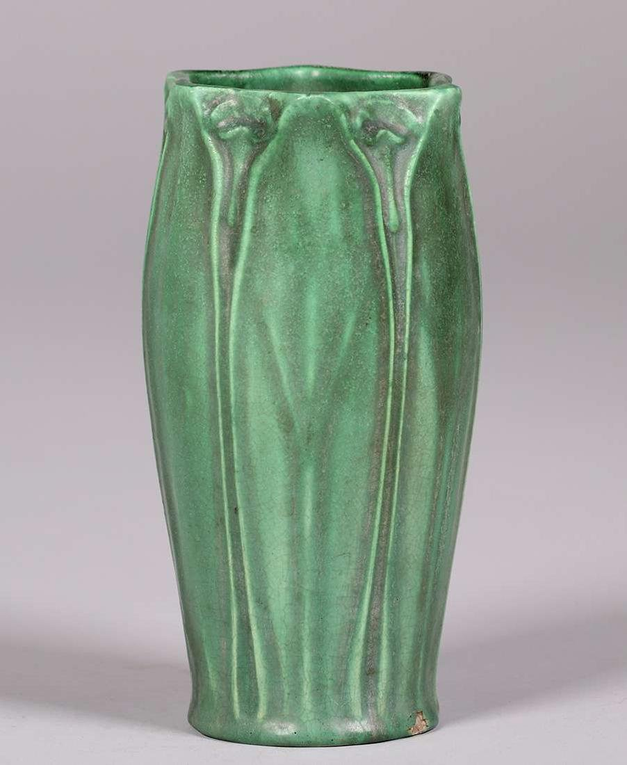 Craven Art Pottery Matte Green Vase William Jervis 1906 - 2