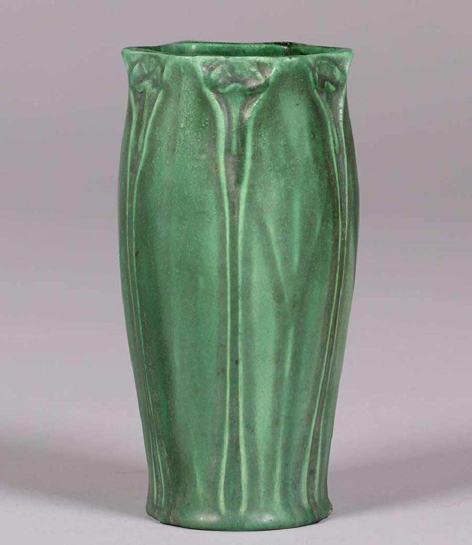 Craven Art Pottery Matte Green Vase William Jervis 1906 - 3