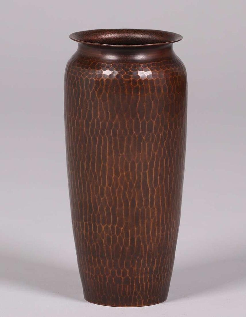 "Roycroft Hammered Copper Vase 8.75""h"