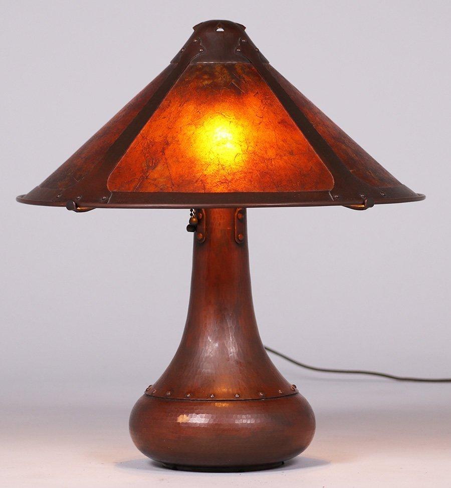 Michael Adams Hammered Copper Rivetbase Lamp