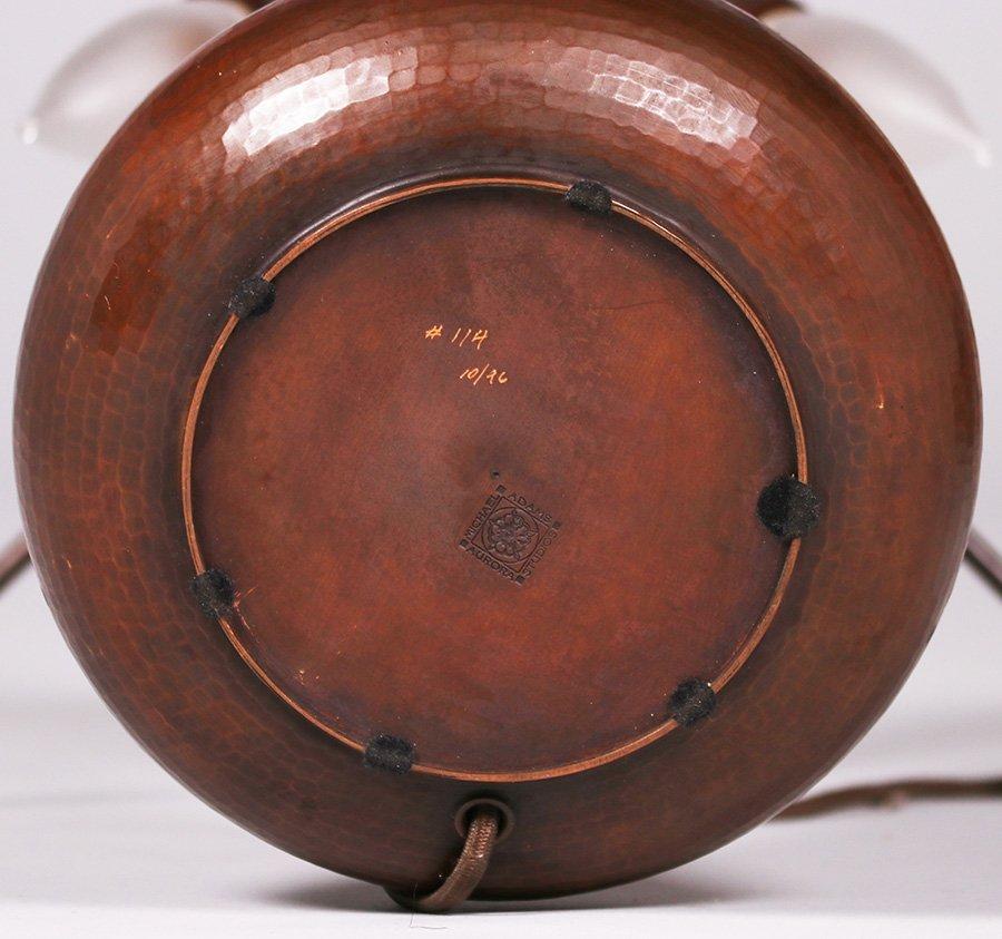 Michael Adams Hammered Copper Rivetbase Lamp - 3