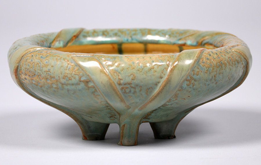 Fulper Pottery Four-Footed Bowl