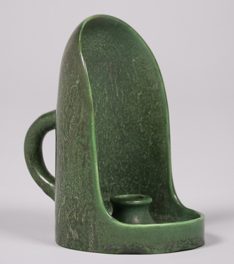 Hampshire Pottery Matte Green Chamber Stick