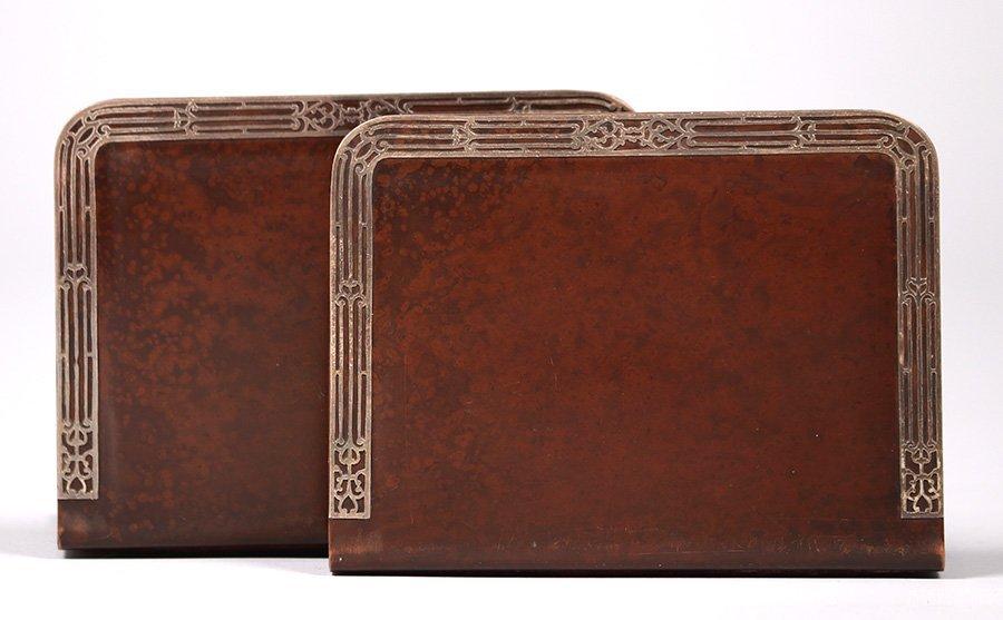 Heintz Sterling on Bronze Bookends - 2