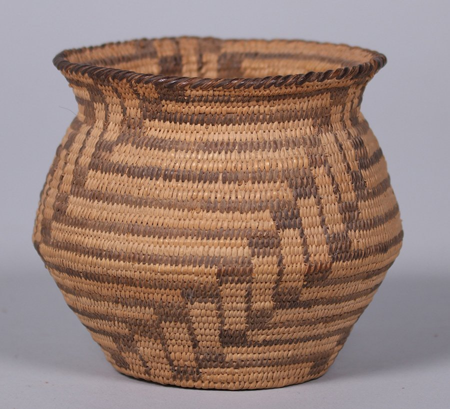 Pima Native American Basket Arizona c1910