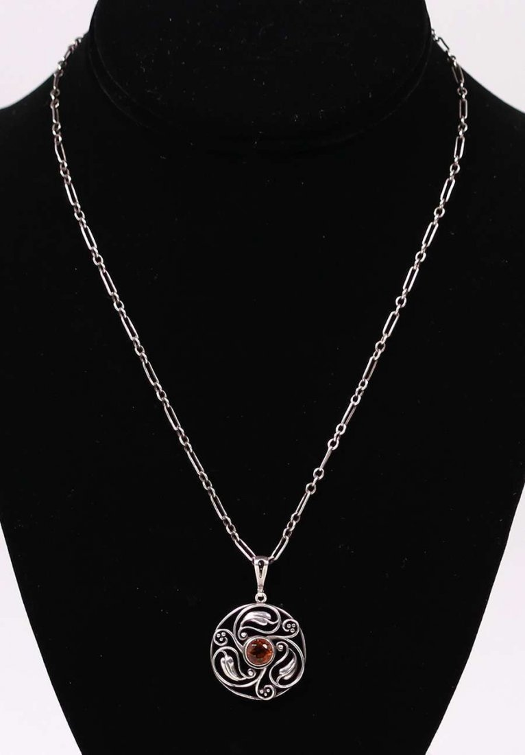 William Hair Haseler Liberty Sterling Citrine Necklace - 2