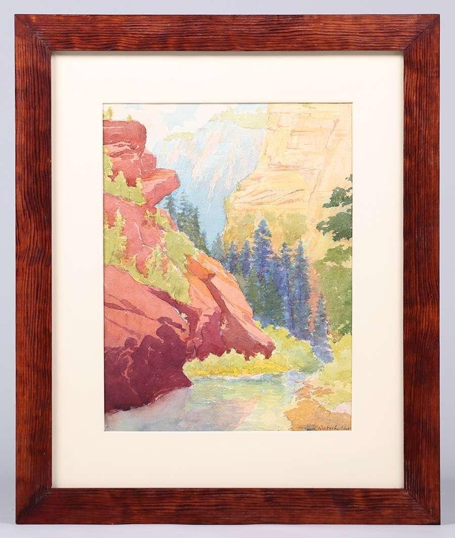 Erwin Winterhalder Watercolor - 2