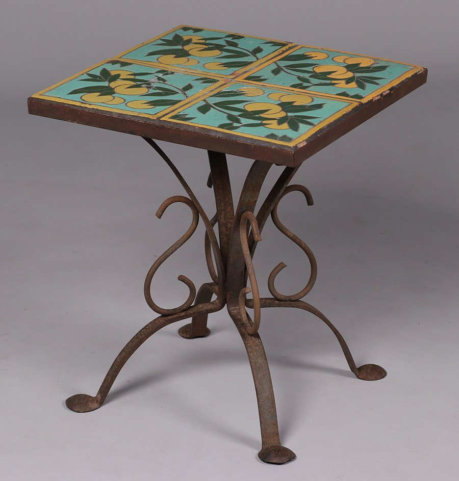 California Arts & Crafts Spanish Tile-Top Table