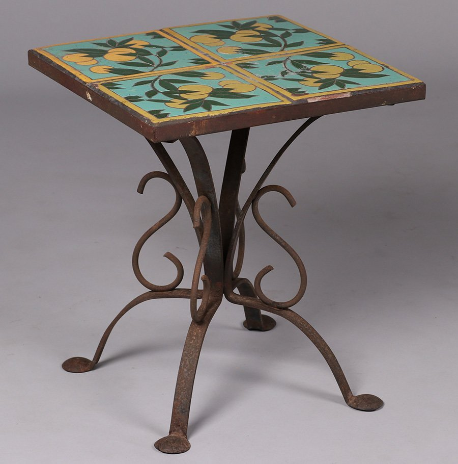 California Arts & Crafts Spanish Tile-Top Table - 2