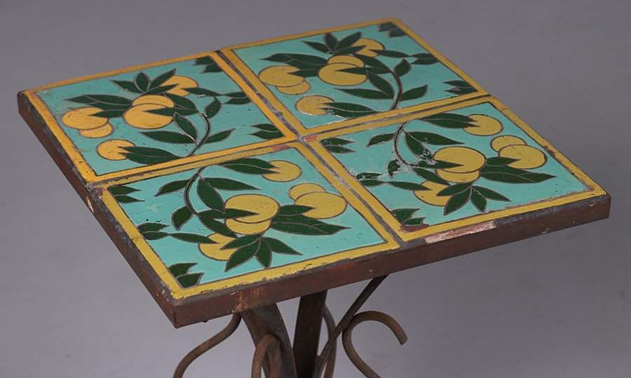 California Arts & Crafts Spanish Tile-Top Table - 3