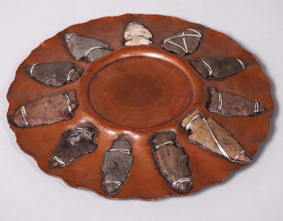 Joseph Heinrichs Hammered Copper Arrowhead Tray