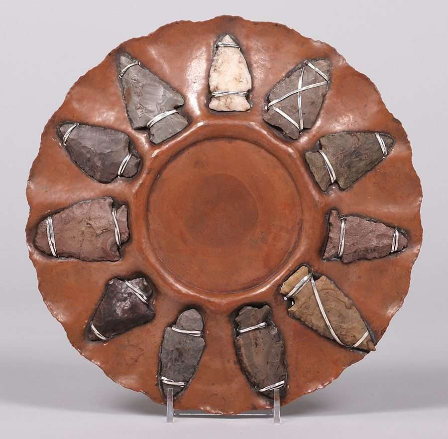 Joseph Heinrichs Hammered Copper Arrowhead Tray - 2