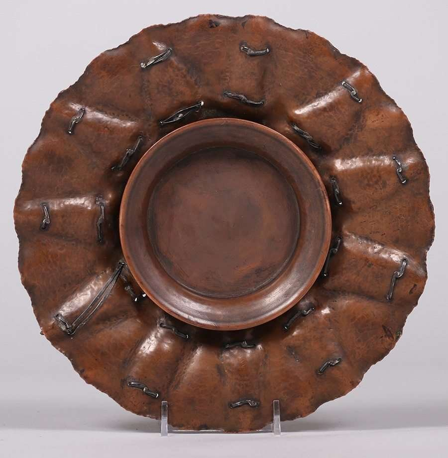 Joseph Heinrichs Hammered Copper Arrowhead Tray - 3