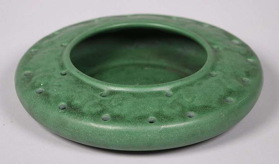 Weller Pottery Matte Green Bowl
