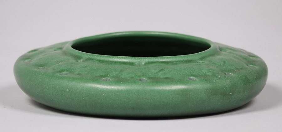 Weller Pottery Matte Green Bowl - 2