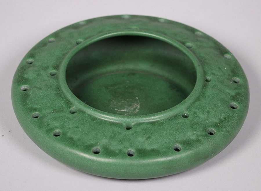 Weller Pottery Matte Green Bowl - 3