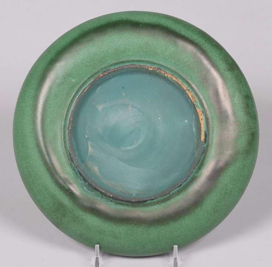 Weller Pottery Matte Green Bowl - 4
