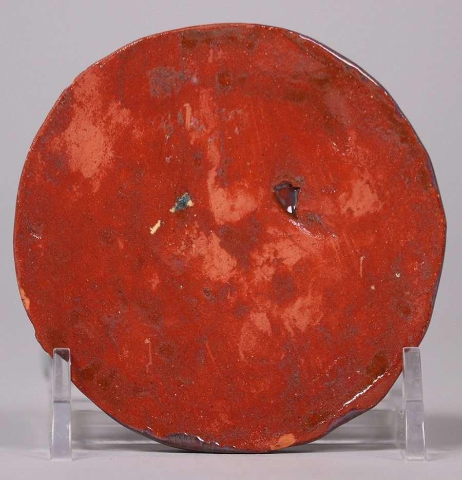Pewabic Pottery Round Tile c1935 - 2