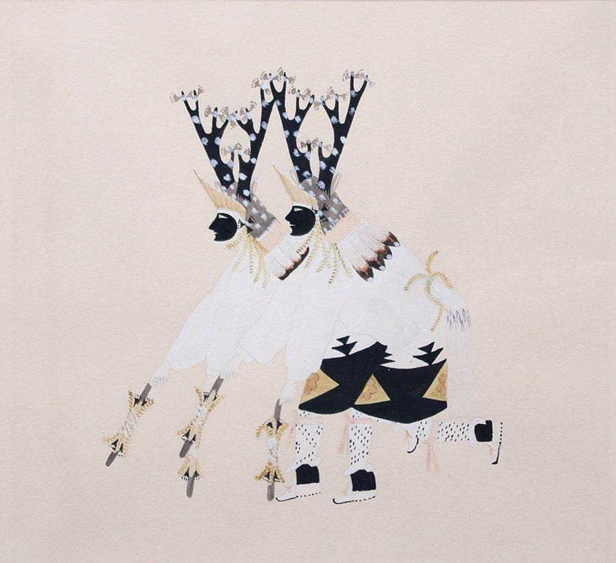 Julian Martinez Watercolor Deer Dancers