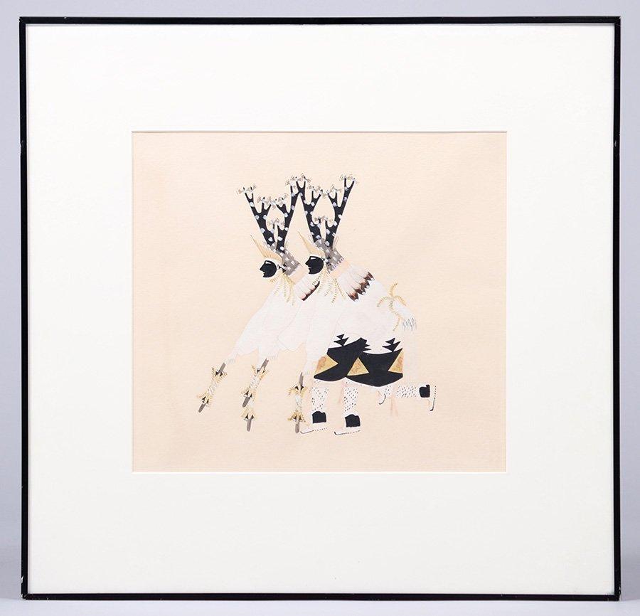 Julian Martinez Watercolor Deer Dancers - 2
