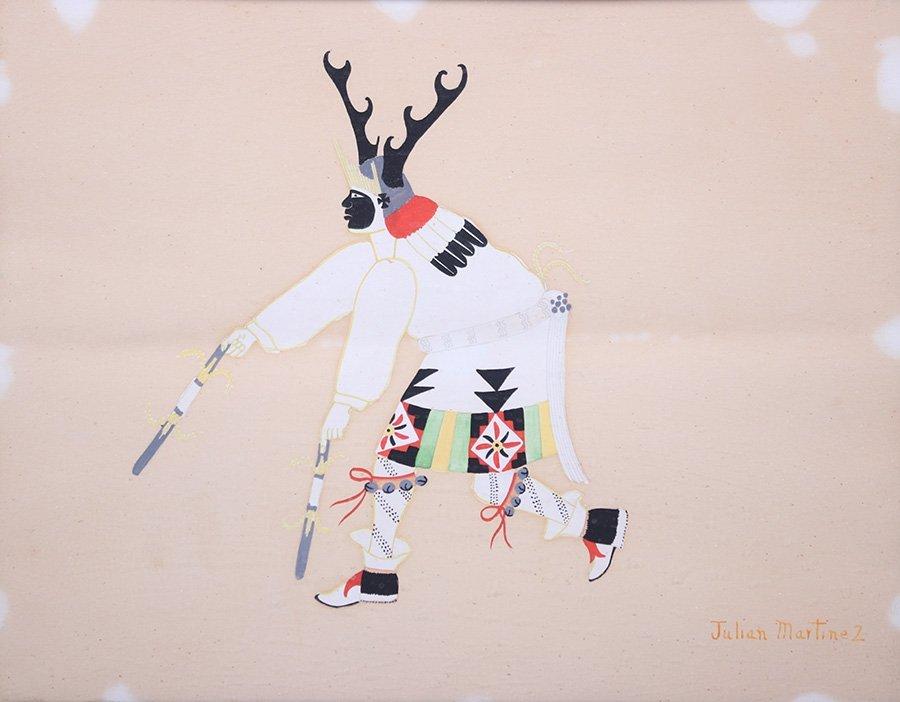 Julian Martinez Watercolor Deer Dancer