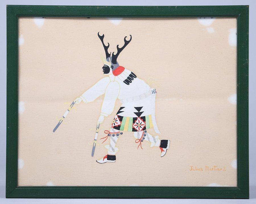 Julian Martinez Watercolor Deer Dancer - 2