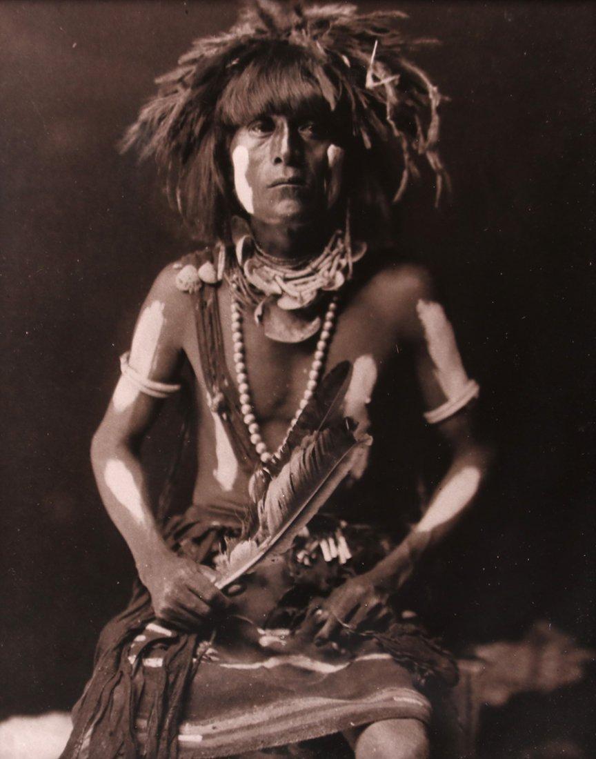 Edward Curtis Photo  Restrike Hopi Warrior