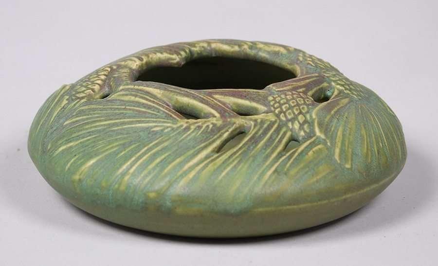 Rookwood Matte Green Pinecone Bowl c1909