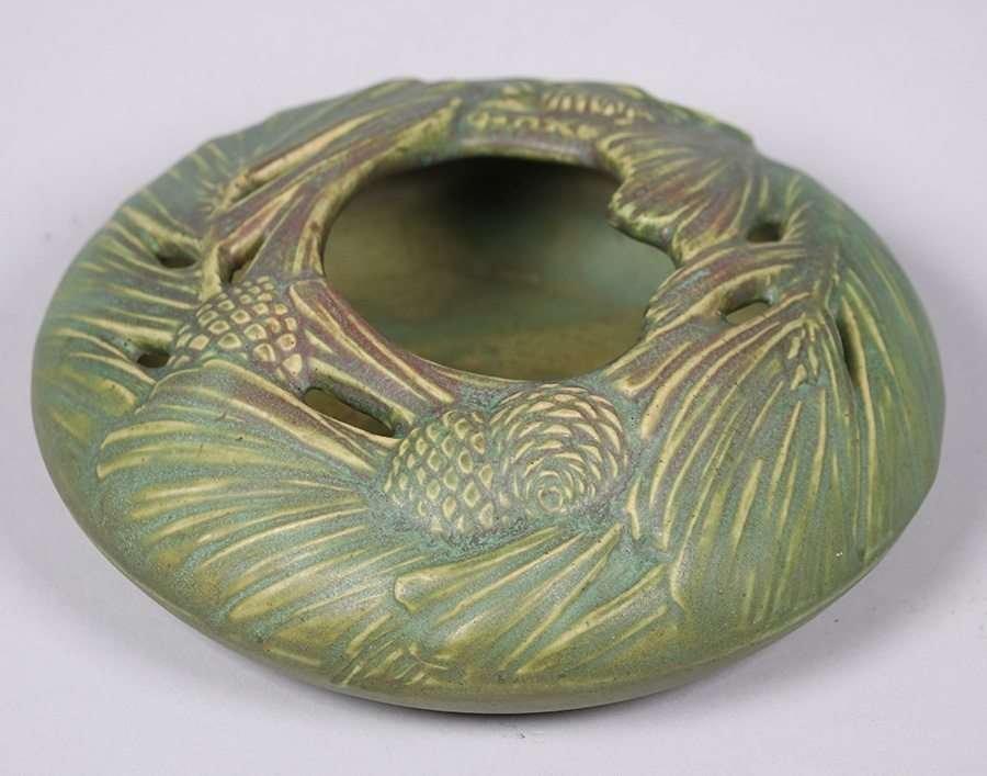 Rookwood Matte Green Pinecone Bowl c1909 - 2