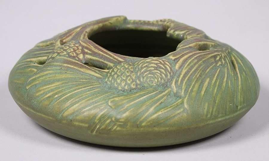 Rookwood Matte Green Pinecone Bowl c1909 - 3
