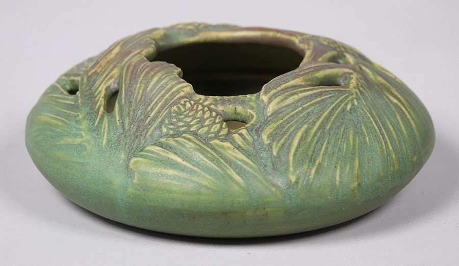 Rookwood Matte Green Pinecone Bowl c1909 - 4