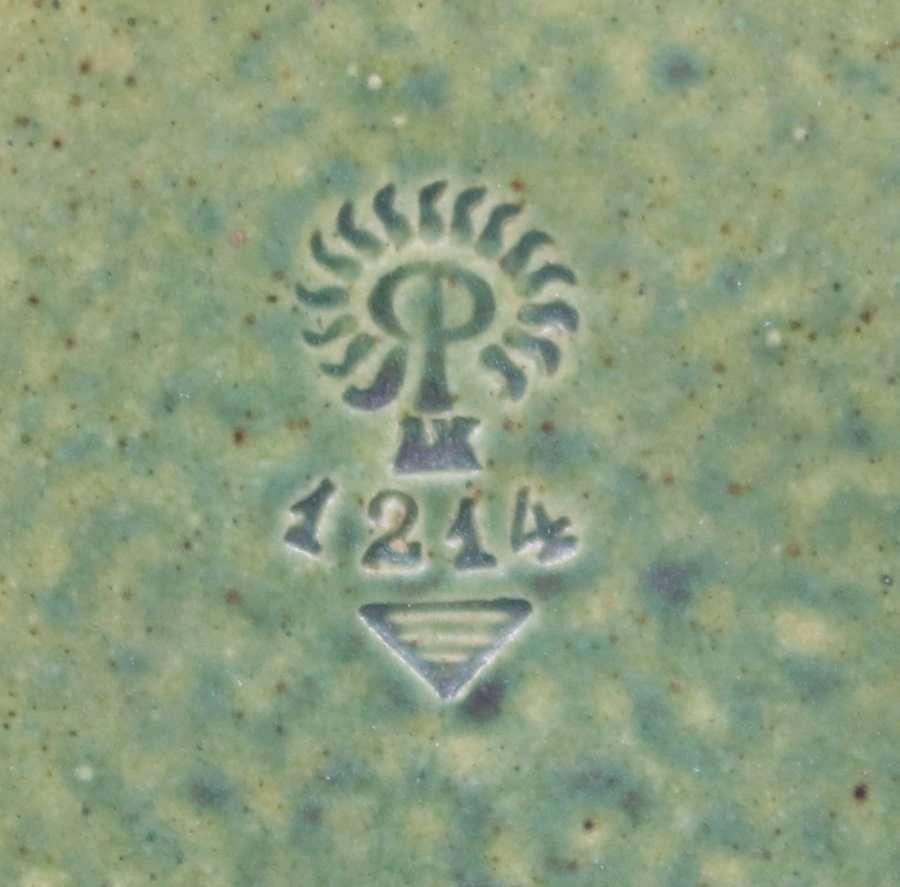 Rookwood Matte Green Pinecone Bowl c1909 - 6