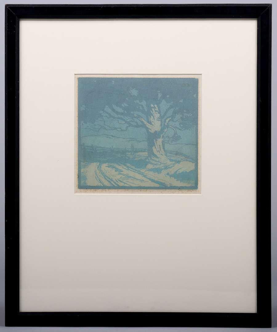 Ernest Watson Woodblock Print Oak Tree - 2