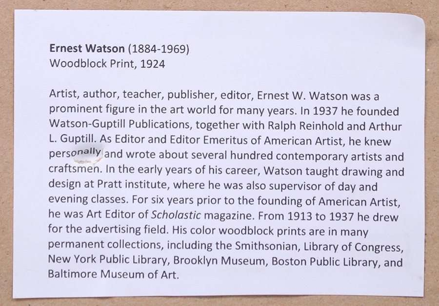 Ernest Watson Woodblock Print Oak Tree - 4