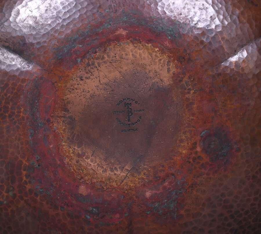 Albert Berry Hammered Copper Bowl - 3
