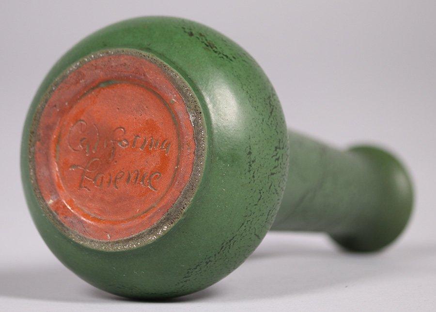 California Faience Matte Green Vase - 3