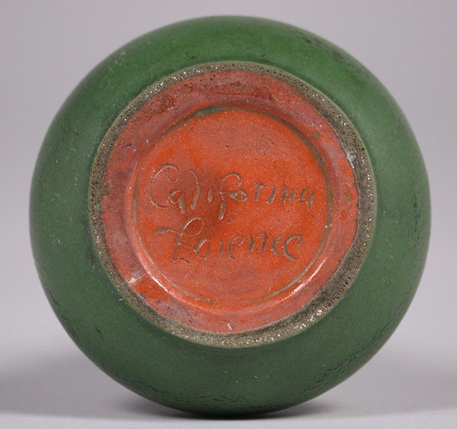California Faience Matte Green Vase - 4