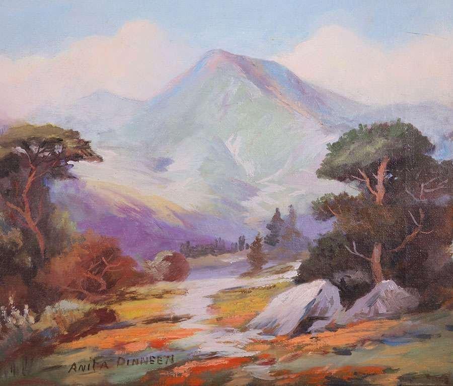 Anita Dinneen Mt Tamalpais Painting c1910-1920