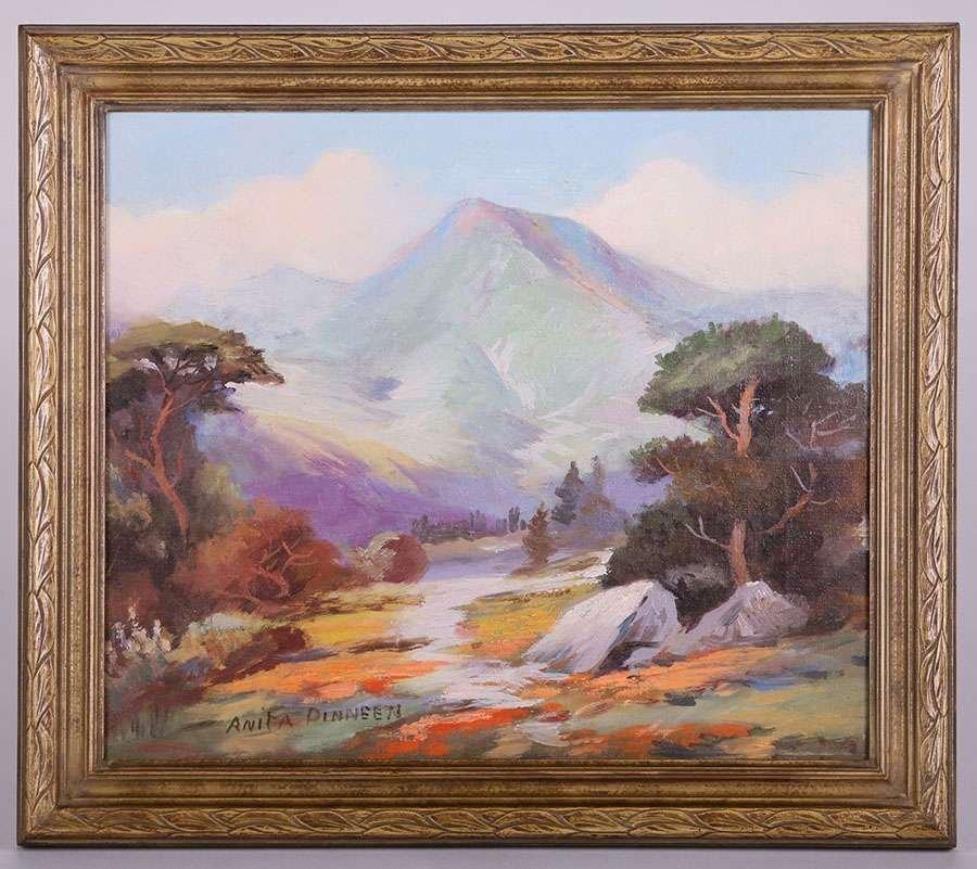 Anita Dinneen Mt Tamalpais Painting c1910-1920 - 2
