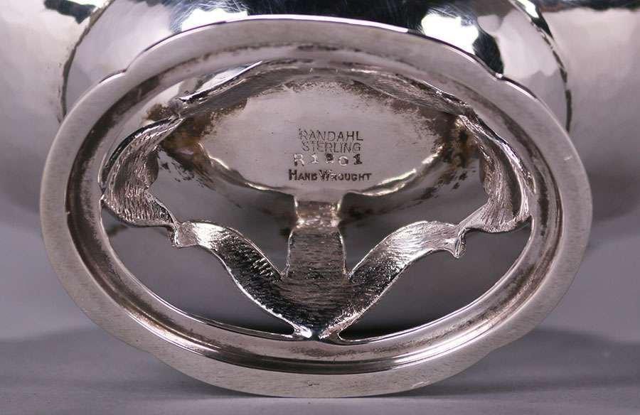 Randahl Chicago Hand-Hammered Sterling Silver Bowl - 3