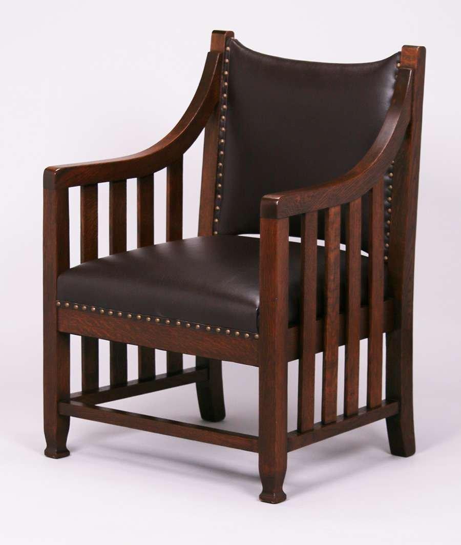 Pair Arts & Crafts Armchairs c1905 - 2