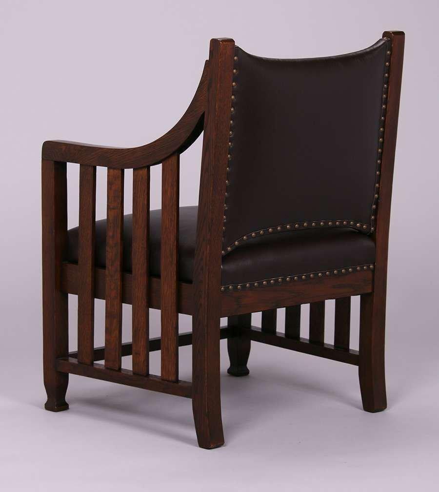 Pair Arts & Crafts Armchairs c1905 - 3