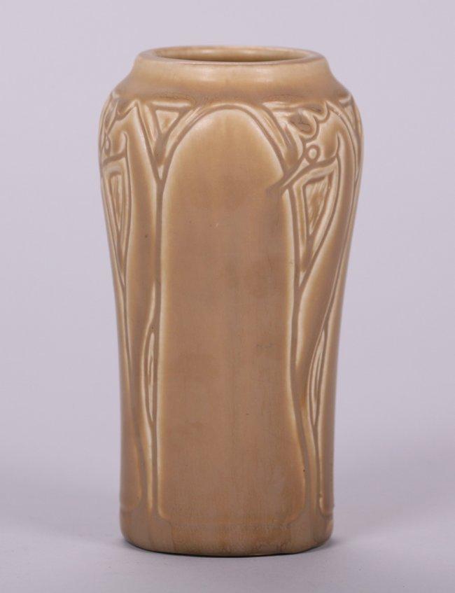 Rookwood Matte Brown Seahorse Vase 1919 - 3