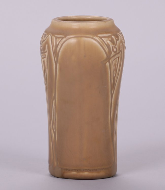 Rookwood Matte Brown Seahorse Vase 1919 - 4