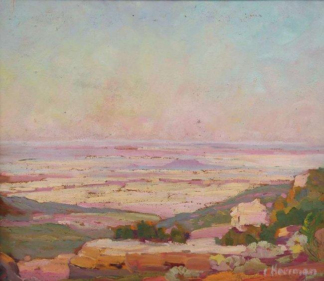 Carl Hoerman Oil Painting of Arizona Landscape