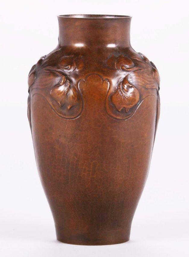 Clemens Friedell Pasadena Hammered Copper Vase - 2